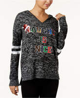 Hooked Up by IOT Juniors' Nice Holiday Graphic Sweater