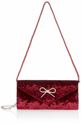 Jessica McClintock Liliana Velvet Envelope Clutch