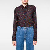 Paul Smith Women's Navy Shirt With Multi-Coloured 'Paisley' Print