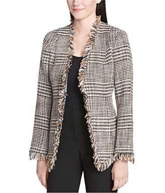 Calvin Klein Women's Graphic Tweed Flyaway Jacket