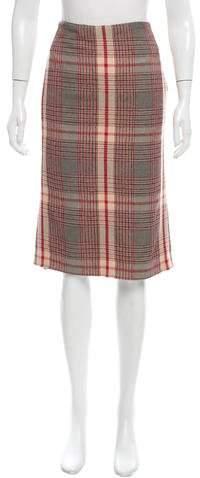 Alexander McQueen Knee-Length Tartan Skirt