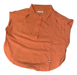 Carven Orange Cotton Tops