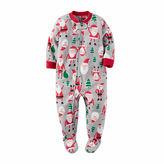 Carter's Boys Long Sleeve Footed Pajamas-Baby