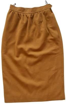 Saint Laurent Brown Wool Skirt for Women Vintage