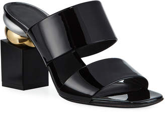 Salvatore Ferragamo Lotten Heel-Detail Sandals