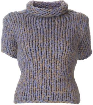 Chanel Pre Owned turtleneck short-sleeved knitted blouse