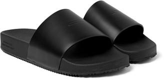 Saturdays NYC Banya Logo-Debossed Leather Slides