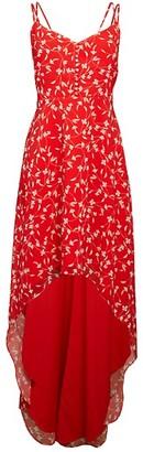 Alexia Admor Floral High-Low Maxi Dress