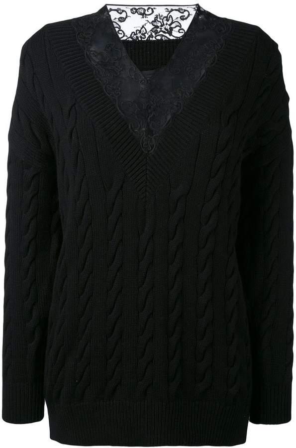 Alexander Wang lace detail jumper