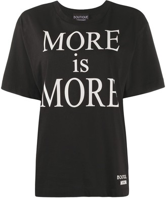 Boutique Moschino More Is More print T-shirt