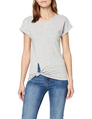 G Star Women's Caper Knotted Cap Sleeve Round Neck T-Shirt,10 (Size: Small)