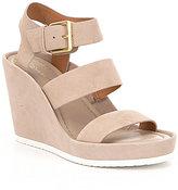 Calvin Klein Hailey Suede Wedge Sandals