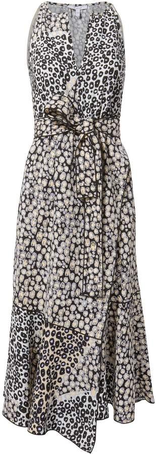 Derek Lam 10 Crosby Printed Belted Dress