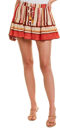 Rococo Sand Tanish Mini Skirt