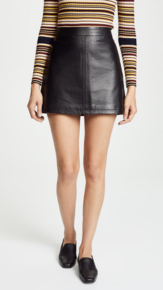 Cupcakes And Cashmere Marrie Leather A-Line Skirt