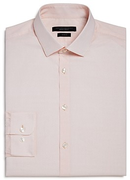 John Varvatos Micro Dot Slim Fit Dress Shirt