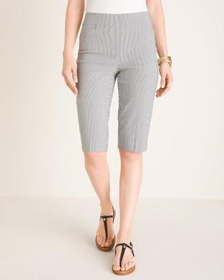 BRIGITTE Pinstriped Slim Shorts- 13 Inch Inseam