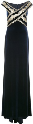 Tadashi Shoji Taman sequin gown