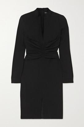Tom Ford Ruched Stretch-georgette Dress - Black