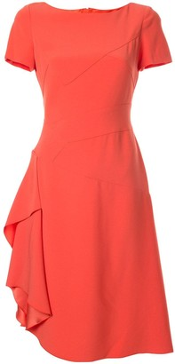 Paule Ka asymmetric flared dress