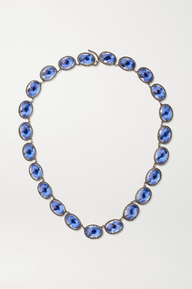 Larkspur & Hawk Lily Riviere Rhodium-dipped Quartz Necklace - Silver