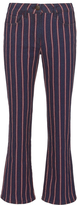 3x1 Tabby Striped Crop Flare Jeans