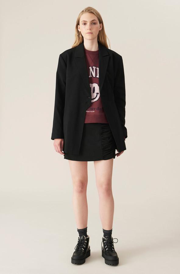 Thumbnail for your product : Ganni Heavy Crepe Mini Skirt