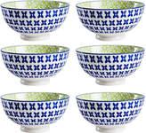 Torre & Tagus Kiri Pansy Porcelain Medium Bowls (Set of 6)