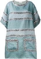 Faith Connexion sequin embellished dress - women - Linen/Flax/Cotton/Polyester - 36
