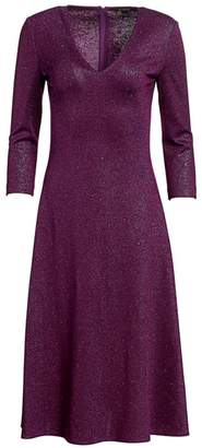 St. John Milano Sequin Knit V-Neck Dress