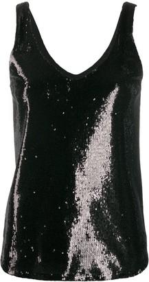 Blanca Vita sequined V-neck tank top