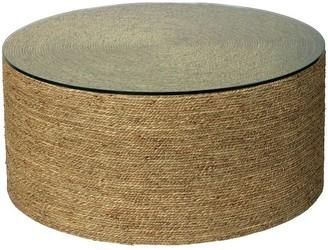 "Pottery Barn Dixon 36"" Seagrass Round Coffee Table"