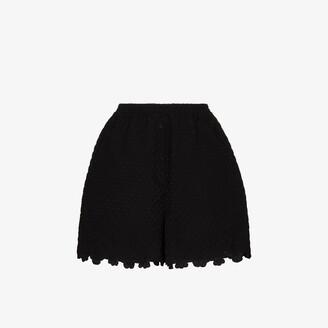 Cecilie Bahnsen Kim high waist scalloped shorts