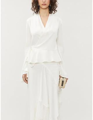 Vanessa Cocchiaro Murasaki wrap-over woven top
