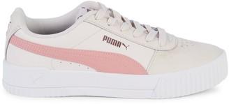 Puma Carina Logo Lace-Up Sneakers