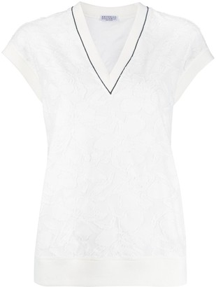 Brunello Cucinelli Sleeveless Fitted Blouse