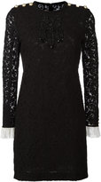 Gucci bead embroidered lace dress - women - Silk/Cotton/Polyamide/Spandex/Elastane - 42