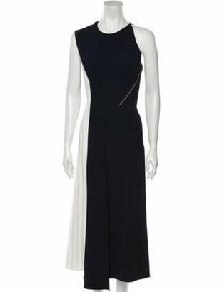 Roland Mouret Crew Neck Long Dress w/ Tags Blue