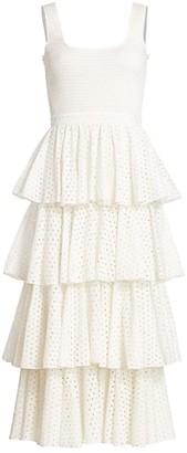Rhode Resort Naomi Tiered Midi Dress
