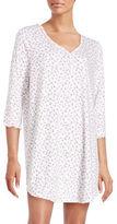Karen Neuburger Floral Cotton-Blend Sleepshirt