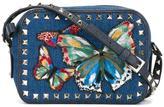Valentino Garavani Valentino 'Rockstud Jamaica Butterflies'' crossbody bag - women - Cotton/Leather/metal - One Size