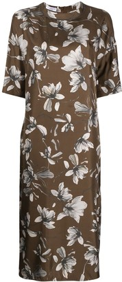Brunello Cucinelli Floral Shift Dress
