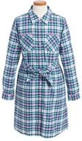 Vineyard Vines Belted Plaid Shirtdress (Toddler Girls & Little Girls)
