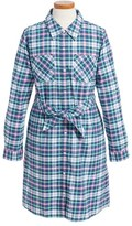 Vineyard Vines Toddler Girl's Belted Plaid Shirtdress