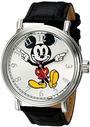 Disney Men's W001850 Mickey Mouse Analog Display Analog Quartz Black Watch