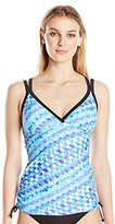 Free Country Women's Mirage Double Strap Adjustable Side Tankini