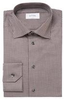 Eton Check Print Slim Fit Dress Shirt