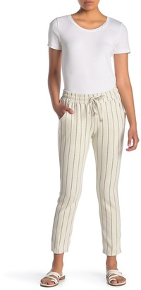 Dee Elly Drawstring Knit Stripe Pants