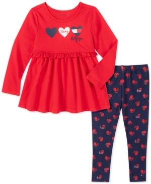 Tommy Hilfiger Baby Girls 2-Pc. Hearts Tunic & Leggings Set