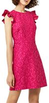 Warehouse Frill Sleeve Lace Dress